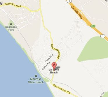 La Selva Beach Google Map