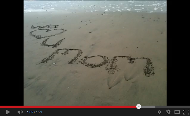 We Love You Mom at La Selva Beach